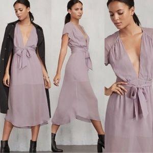 Reformation Thalia Lavender midi dress